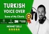 Record Professional Male Turkish Voice Over, Voiceover