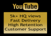 send 5000+ Real Views ! High Retention ! 80-90 Fast Delivery !