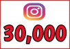 We offer following in this 30,00 real active instagram follower package.