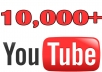 In this gig I'll provide you 10,000 Real YouTube views for 10$. A Service To Improve The Popularity Of Your YouTube Videos and Increase Your Site/Blog Visitors....Videos with more Views often show up in Google search results. Also this helps you get found more often on YouTube Top Search Results.  Order now and get huge views on your video!!!