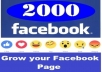 provide You 1000 Facebook post likes