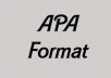 write your references and manuscript in APA format