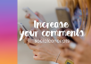 give real instagram comments promoting your page