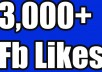 I will provide you 3,000+ Real Facebook likes. The account is real and is gained through promotion techniques. Need only the Facebook URL. Quality of my service: 100% Real FACEBOOK likes FACEBOOK likes do not drop from your subject because they are real and human. Stay a long time in your FACEBOOK All FACEBOOK Likes are Manual Instant start 100% guaranteed work Worldwide Likes are 100% Real & it's come from Active FACEBOOK Users & different IP in the world. Works procedure 100% Right way. Quickly deliver before deadline