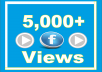 Guaranteed 5,000 Facebook Video Views All views high quality and high retention! Absolutely safe They do not drop Cheapest offer! We can handle many videos at same time! 100% safe! We offer professional social network service! We don't need access to your account your job completed within 24-48 Hrs start work very fast  ✔ 100% Safe ORDER NOW