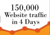Send 150.000 real Worldwide website traffic visitors from all Countries