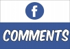 Add 60 Facebook Custom Comments