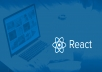 If you are looking to develop web application with React, regardless of from scratch or modify an existing website, a single page web application or multi page web application, let me to create for you an application to measure and according to your needs.