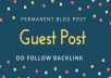 Do Guest Post On Highly Da Blog