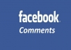 Manually post 50 real relevant Facebook Comments to your post, picture or video