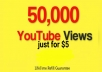 Give 50000 thousand views to your YouTube video, just