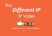 Do Different 150 ip votes on your online poll voting contest