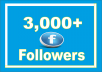 Get 3,000 Facebook Profile Followers