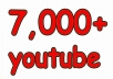 i will give 7,000 super high quality YouTube Views real and permanent 100% real Views. 100% Manually done 100% safe. 100% Satisfaction Guaranteed 100% money back Guaranteed 24/7 Customer support Natural & Permanent fans Note: Instant Start ********************* Now Order ********************* ..thanks..