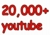 i will give 20,000 super high quality YouTube Views real and permanent 100% real Views. 100% Manually done 100% safe. 100% Satisfaction Guaranteed 100% money back Guaranteed 24/7 Customer support Natural & Permanent fans Note: Instant Start ********************* Now Order ********************* ..thanks..