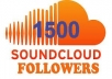 Provide you 1500 Soundcloud followers