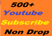 I will give you, 500+ high-quality YouTube subscribers On your YouTube Video channel, only for 20$. These YouTube subscribers are 100% Genuine I Will Provide You With: - All Subscriber real human - Non-drop subscribers. - Promote Your YouTube channel. - YouTube subscribers are 100% genuine. - Cheap offer for you. - Extra YouTube Subscribers. - No bots used