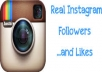 I will give you 1,000+ Instagram followers and 5,000 Instagram likes. Instagram followers and likes will be making your account popular.  100% FOLLOWERS and likes will have Profile Pictures! I can handle up to 100+ orders/day! Split are available! NO DROP, Guaranteed! They will be stay permanent! Fast and Cheap Service. 100% Safe and Trust-able. Fast Delivery , usually finish in less than 24 - 48 hours. Quick Customer Support.   100% SATISFACTION GUARANTEED!