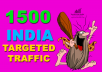 Sen 1500 India Targeted Traffic To Your Web Or Blog Site
