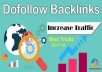 Create 1,000+High Quality backlinks For Your Websites.