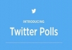 Give you 100 Twitter Poll Votes