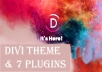 Install Divi Theme And 7 Divi Plugins