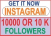 I will provide 10000+ Instagram Followers  No password required  No need to follow others  Fastest delivery online  More Secured Method  Privacy Protection Safe and Professional Service I can handle up to 100+ orders/day! Split are available! usually finish in less than 24  hours.  Quick Customer Support.  100% SATISFACTION GUARANTEED!