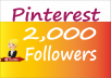 Provide 2,000 Pinterest Followers