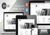 Design an HTML & CSS RESPONSIVE WEBSITE TEMPLATE THAT YOU CAN HOST MANAGE YOURSELF