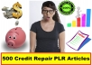 Sell 500 Credit Repair PLR Articles