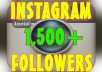 deliver 1,500 Instagram followers