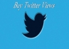 Provide you 1500 Twitter views