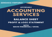 prepare financial statements via Wave Financial/ Excel