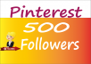 Provide 500 Pinterest Followers