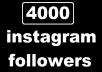 We offer following in this 4,000 real active instagram follower package.  Only Quality Real Followers 100% Satisfaction 24×7 Support No password required No need to follow others Fastest delivery online More Secured Method Privacy Protection Safe and Professional Service Money Back Guarantee