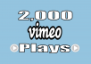 Provide You Real 2,000 Vimeo Views