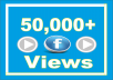 Guaranteed (50,000) Facebook Video Views All views high quality and high retention! Absolutely safe They do not drop Cheapest offer!