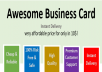 Make AWESOME Business Card with instant delivery for $10