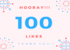 Get 100 likes on your last 10 photos. These likes are permanent.  That means you will get 1000 likes in total (10×100)=1000