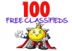 give you the top 100 100% FREE Classified websites with Alexa Rankings in the top One Million