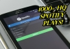 provide you with 1000 SPOTIFY PLAYS