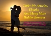 Give 7500 Plr Articles, Ebooks On Dating, Relationships, Sex