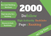 create 2000 dofollow backlink To rank your website