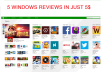 provide you 5 reviews for your Windows apps