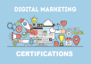 Clear all the Digital Marketing certificates on behalf of you