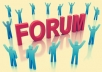 Boost your forum: Everyday posting comments.