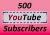 give you 500 YouTube subscribers
