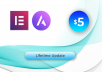 Install Elementor pro and Astra pro for lifetime updates