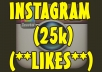 add 25000 Instagram likes