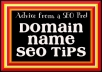 Give 5 Tips to Pick a Memorable, SEO Friendly DOMAIN NAME